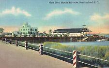 Parris Island,So.Carolina,Marine Barracks,Main Deck,WW II,LInen,U.S.M.C.,c.1940s