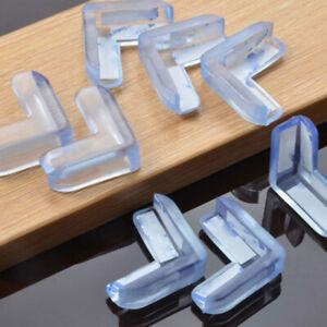 4pcs Silicone Baby Safety Protector Furniture Corner Cover Anticollision Edge pq