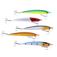 5Pcs/Lot Artificial Fishing Lures Bass Bait Rock Sea Fishing Fish Lures 6g 8.5cm