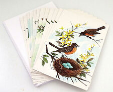 Greeting Cards, Set of 13, Birds, Birthday, Get Well, New Baby, Anniv., Vintage