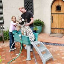Dog Booster Bath Tub Easy U-shaped Entrance Nonslip Mat Washing Large Adjustable
