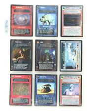 Star Wars CCG Foil Lot of 9 Mixed Cards 1999-2000 Decipher Lot 8