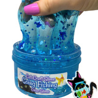 Ultra Clear Slime Stretchy putty Perfect for Gifts Includes fish charm Carnival Fish Unscented Crystal Clear Slime