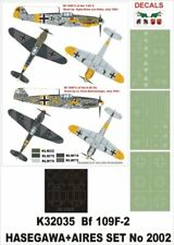 Montex Super Mask 1:32 Bf-109 F-2 for Hasegawa+Aires Kit #K32035