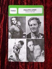 PHILIPPE LEROY  -  MOVIE STAR - FILM TRADE CARD - FRENCH - #2