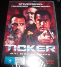 Ticker Steven Seagal Tom Sizemore Dennis Hopper (Australia Region 4) DVD – New
