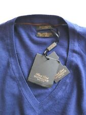 Gutteridge Black Label DAL 1878 Mens V Neck Silk Cashmere Jumper Sweater Size XL