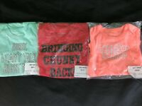LOT Of 3 Okie Dokie Baby Girls One Piece SIZE 3, 9, & 12 Months FUNNY CUTE NEW