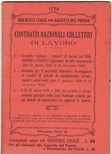 CONTRATTI NAZIONALI COLLETTIVI DI LAVORO VIAGGIATORI PIAZZISTI 1930