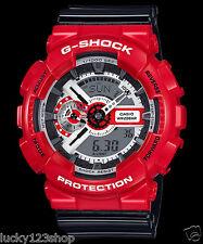 GA-110RD-4A Rote Casio Uhr G-Schock 200M WR Analog Digital X-Large Resin Neu