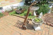 Antique Vintage Rare Unique Homas Keokuk Iowa Wooden Metal Hand Cart #S175