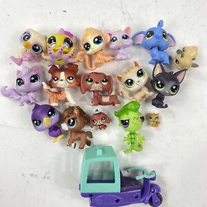 Littlest Pet Shop Lot of 17 Pieces Figures