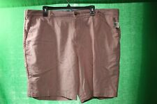 Men's IZOD Saltwater Relaxed Pink With Anchors Shorts Sz 42 stretch waist NWT