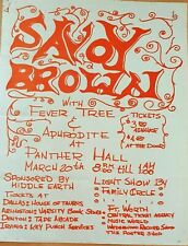 Savoy Brown & Fever Tree.  1970 US Concert Poster.  VG+