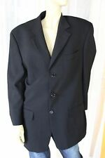 STUDIO ITALIA BLACK ITALIAN WOVEN WOOL SUIT BUSINESS JACKET MADE IN AUSTRALIA