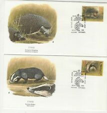 Russia 1989 (2) Different First Day Covers Badger And Hedgehog
