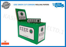 Ezee Green Rolling Cigarette Papers Standard Size Cut Corner Roll Your Own Paper