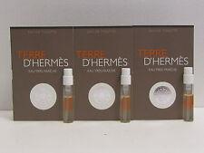 Terre D'Hermes Eau Tres Fraiche Lot of 3 Sample Vials EDT Spray 3 x 0.06 oz