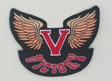 Victory Motorcycle V with wings patch. 4 inches.NEW.UNIQUE