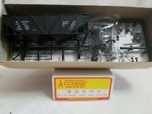 ACCURAIL # 2713 HO WOOD SIDE TWIN HOPPER MONON CI&L 40186 - NEW in BOX