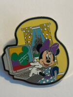 WDW Cast Member Backstage Pass Series Minnie Mouse Computer Disney Pin LE (B2)