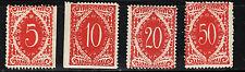 1919 Yugoslavia  SHS SLOVENIA Postage due VIENNA  ERROR PERF.  Sc#3LJ8-3LJ11 MLH