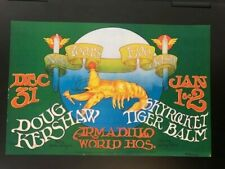 DOUG KERSHAW NEW YEARS 1970 ARMADILLO WORLD HEADQUARTERS AUSTIN TX POSTER HB
