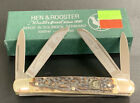VINTAGE HEN ROOSTER STAG HANDLE HILLBILLY CONGRESS GERMANY KNIFE 214DS NOS