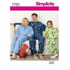 Simplicity Sewing Pattern 1731 Child & Adults Pyjama Jumpsuit All-In-One XS-XL