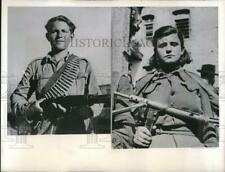 1947 Press Photo Greek partisans at the border of their country - nem31120