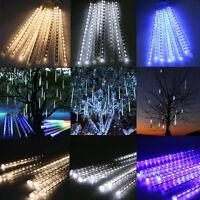 50cm LED SOLAR powered Running Lights Meteor Shower Rain 10x Tubes Xmas Outdoor