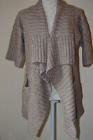 New look size 10. Beige buttonless chunky cardigan,waterfall style.