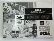 SEGA Game Gear Olympic Gold Booklet Instruction Manual Only