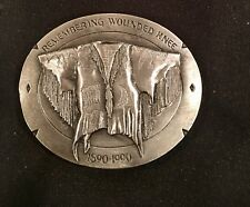 Vintage~1991~BELT BUCKLE~USA~REMEMBERING WOUNDED KNEE~Lmt.Edition~NEW
