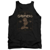 GARFIELD EST 1978 Licensed Adult Men's Graphic Tank Top Sleeveless SM-2XL