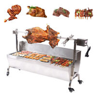 25W Large Roaster Spit Rotisserie BBQ Grill Roast Whole Lamb Chicken Pig Lamb