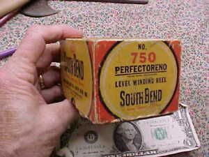Vintage South Bend #750 Perfectoreno Level Winding Reel w/box  Sold as Found