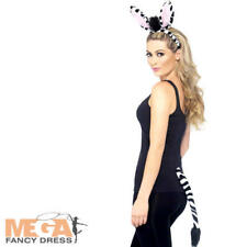 Zebra Fancy Dress Kit Zoo Animal Unisex Adults Kids Dress Up Costume Accessory