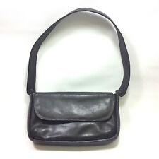 d5e14d55fa Timberland Black Leather Shoulder Bag Purse Handbag Made In Turkey 1990s