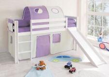 Kinder-Bettgestelle ohne Matratze aus Kiefer in Lila Rutsche