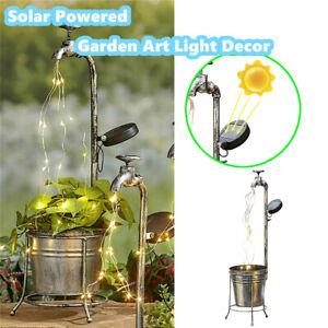 Solar LED Watering Can Light Shower Garden Art Tree Decor Fairy String Lights