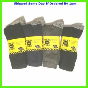 3 Pairs of Mens Work Socks Workwear Reinforced Cushion Sole Boot Socks  6-11