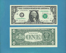CH-CU 2013 $1 SF (L)  star note (2nd Print) - Consec #'s