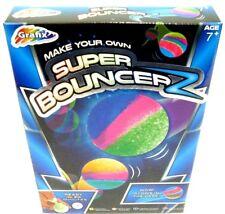 Faites votre propre SUPER BOUNCER Glow in the Dark Ball Bouncy Ball Kids Craft Kit NOUVEAU