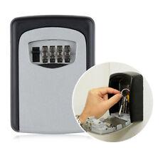 Alloy 4Digit Combination Key Safe Security Storage Box Lock Wall Mount Organizer