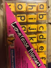 "Educational Insights Alphabet Rubber Stamps - Lowercase 5/8"" Missing h, m, v."