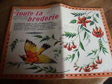 ANCIEN **ALBUM POUR LE TROUSSEAU TOUTE LA BRODERIE AVRIL 1966 N° 131