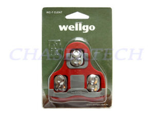 Wellgo RC-7B Road Bike Pedal Cleats 6 Degree Float Look Keo Compatible Red