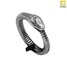 Jewelry Fashion Exquisite Silver Color Ring Snake Ring Men Women Stainless Steel