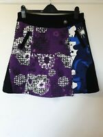 Smash Barcelona Unusual Wrap Skirt Abstract Print Size M 14 16